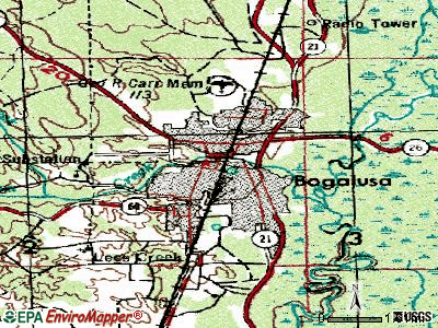 Bogalusa topographic map