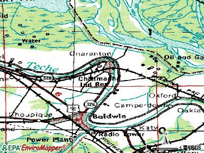 Charenton topographic map