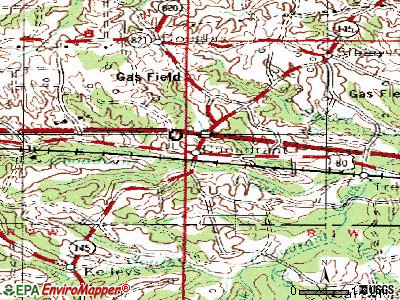 Choudrant topographic map