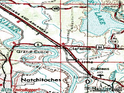 Clarence topographic map