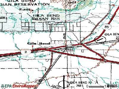Gila Bend topographic map