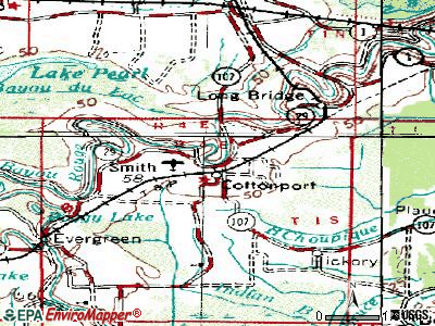 Cottonport topographic map