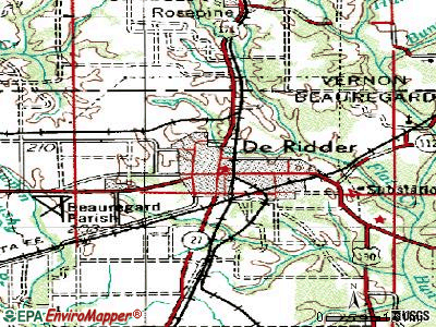 De Ridder topographic map