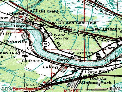 Destrehan topographic map