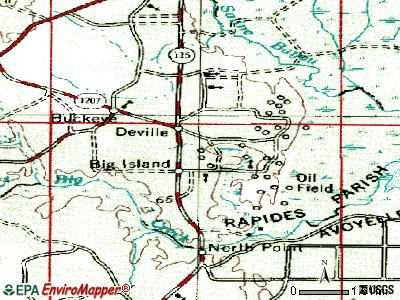 Deville topographic map