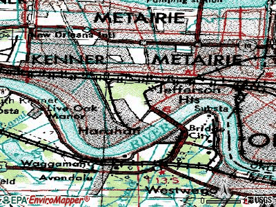 Elmwood topographic map