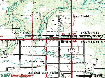 Elton topographic map