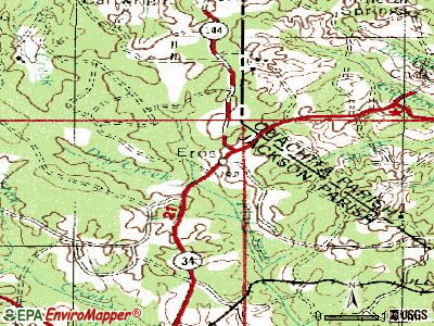 Eros topographic map