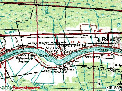 Garyville topographic map