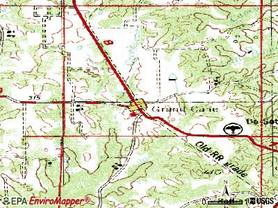 Grand Cane topographic map