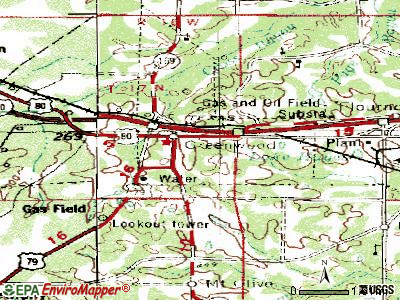 Greenwood topographic map