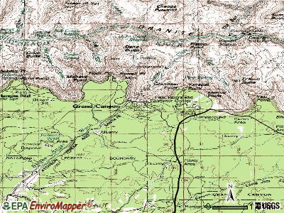 Grand Canyon Village topographic map