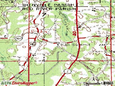 Hall Summit topographic map
