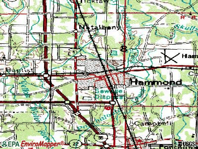 Hammond topographic map