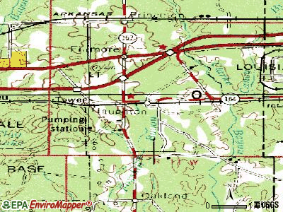 Haughton topographic map