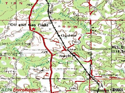 Heflin topographic map