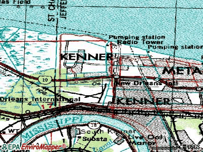Kenner topographic map