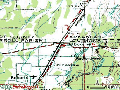 Kilbourne topographic map
