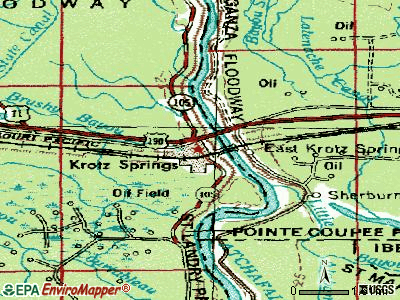 Krotz Springs topographic map