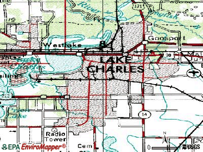 Lake Charles topographic map