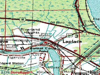 Laplace topographic map