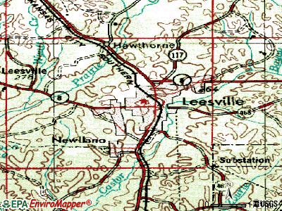 Leesville topographic map