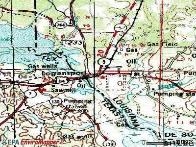 Logansport topographic map