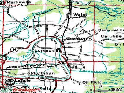 Loreauville topographic map