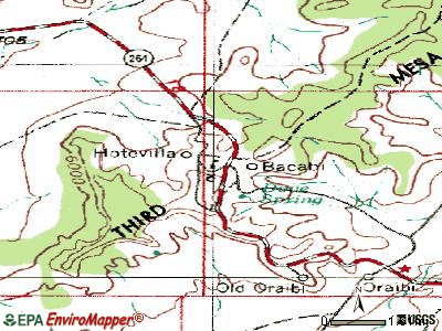 Hotevilla-Bacavi topographic map