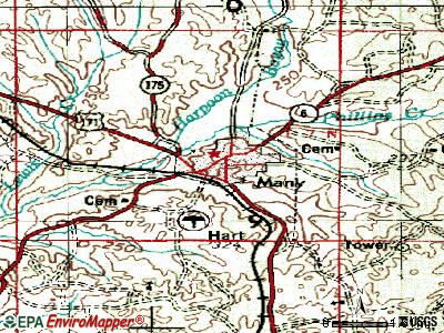 Many topographic map