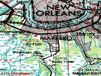 Marrero topographic map