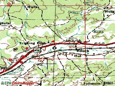 Houck topographic map