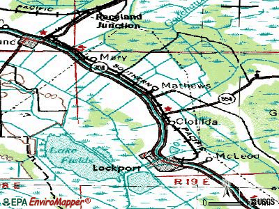Mathews topographic map