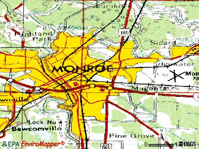 Monroe topographic map