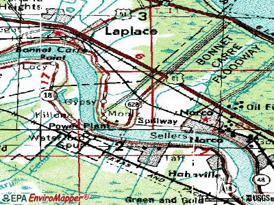 Montz topographic map