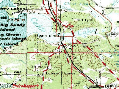 Mooringsport topographic map