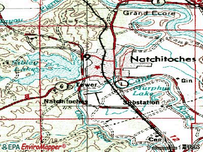 Natchitoches topographic map