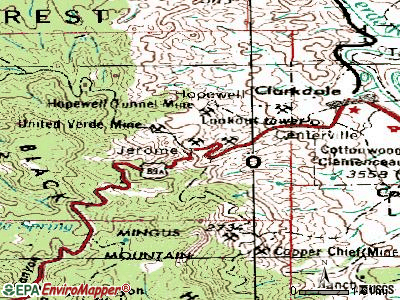 Jerome topographic map