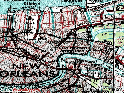 New Orleans topographic map
