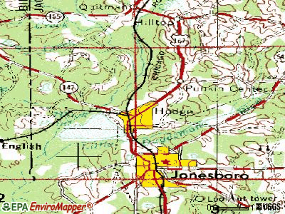 North Hodge topographic map