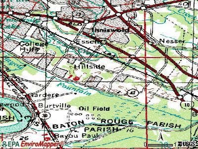 Oak Hills Place topographic map