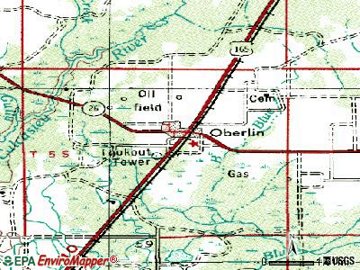 Oberlin topographic map