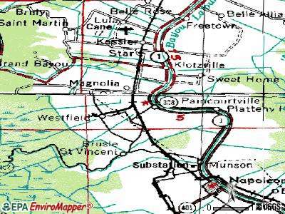 Paincourtville topographic map