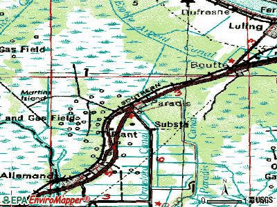 Paradis topographic map