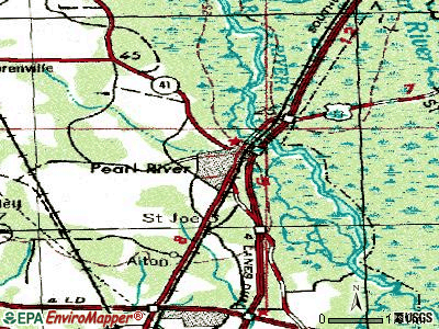 Pearl River topographic map