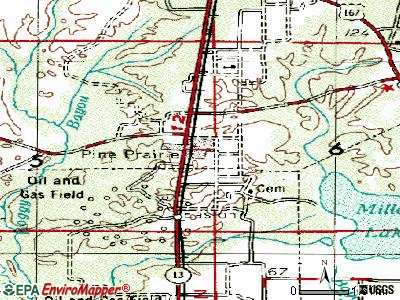 Pine Prairie topographic map