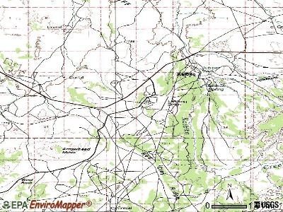 Kaibito topographic map