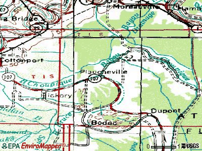 Plaucheville topographic map