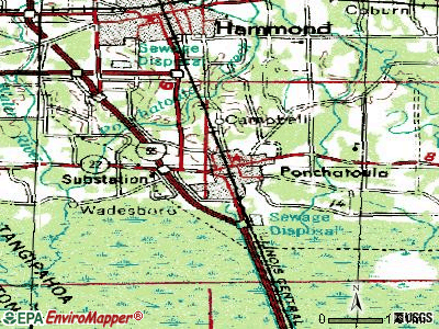 Port Allen topographic map