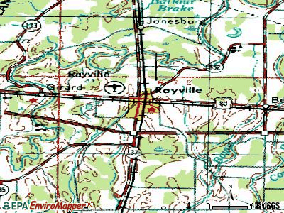 Rayville topographic map